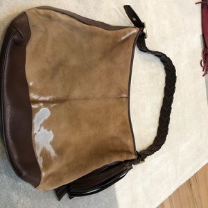 Calf hair Coach bag